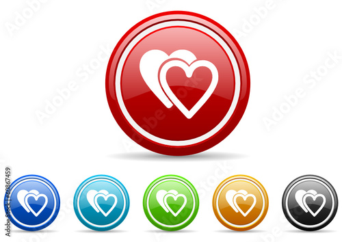 love icon vector set