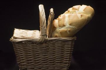 pan redondo y cesta