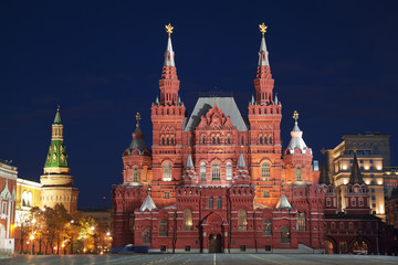 Moscow, the Red square at night. Russia