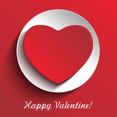 Red Happy Valentine gift card