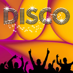 Disco poster abstract ellipses