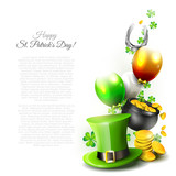 St Patrick's Day - background with copyspace