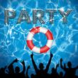 Obrazy na płótnie, fototapety, zdjęcia, fotoobrazy drukowane : Party poster pool party