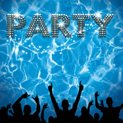 Party poster pool party
