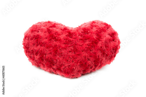 Valentine Heart Made Out of Pillow Roses