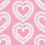 seamless lace pattern with hearts