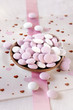 schokolinsen weiß und rosa