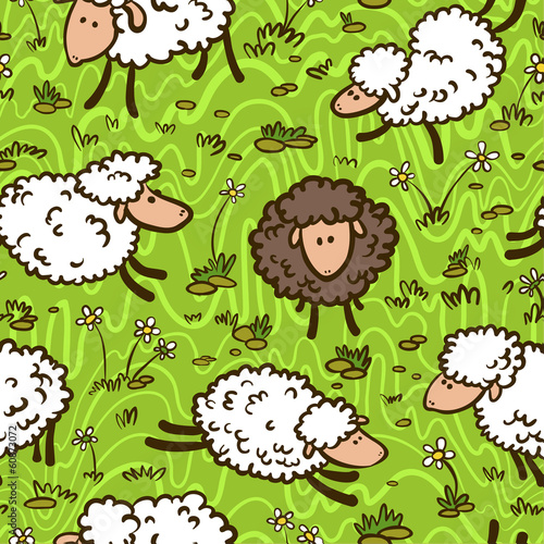 pattern with sheeps