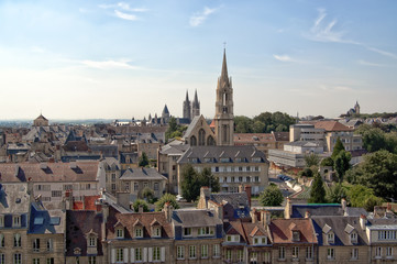 France, Caen - La ville aux mille clochers