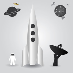 space rocket launch eps10