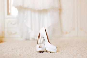 Wedding Shoes on Carpet