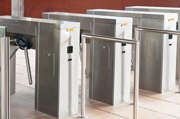 entrance turnstiles