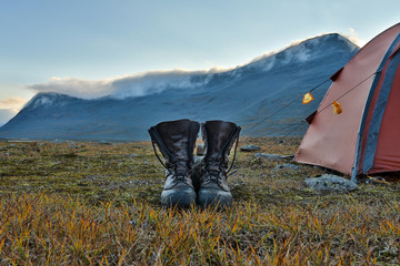 Hiking Boots in Lapland