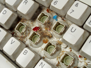 Old dirty keyboard