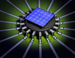 Chip Prozessor Solar Rund