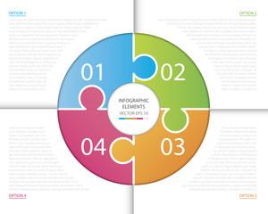 Circle Puzzle Infographic.