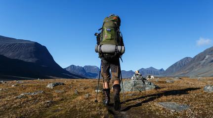 on a Trekking Tour in Sweden