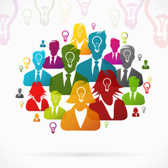 People with ideas working as a team