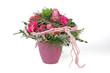 Blumenstrauß mit Bartnelken, Santini und Rosen