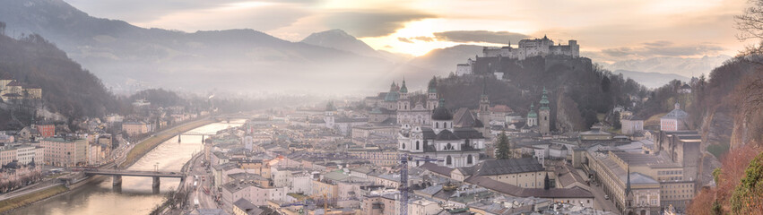 Panoramic view of Salzburg skyline