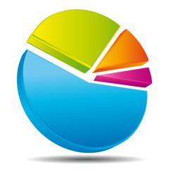 Circular diagram. Statistics icon.