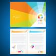 booklet catalog brochure paint brush colorful