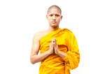 Buddhist monk,  Buddhist monk give a sermon to people.
