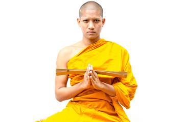 Buddhist monk,  Buddhist monk give a sermon to people.