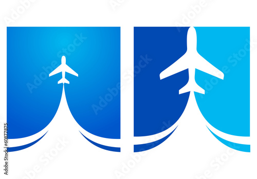 airplane flight emblem takeoff