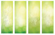 Vector green floral banners for design.