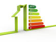 Energy saving concept 3d render