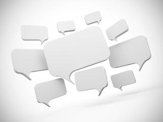 Social Network - Sprechblasen