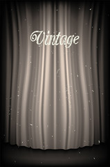 Vintage Black and White Curtain Backdrop