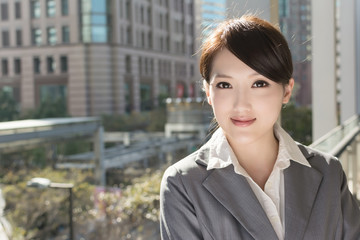 Portrait of attractive Asian business woman