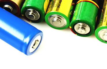 Collection of different batteries