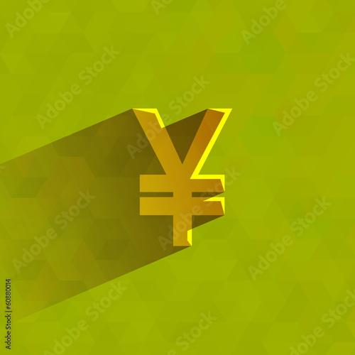 Yen. Vector format