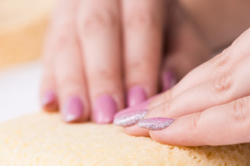 Manicure close up