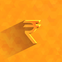 Indian rupees. Vector format