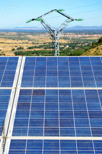Photovoltaic solar panel, clean energy