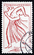 Postage stamp Czechoslovakia 1961 Dancer
