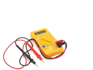 Yellow digital multimeter