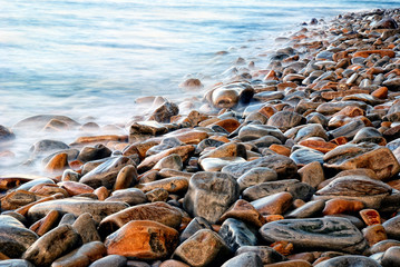 rocks in the sea with calm water