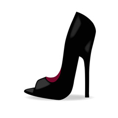 woman high heel shoe