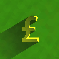 British Pound. Vector format