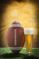 Beer and american football ball