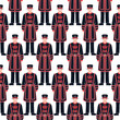 Beefeater soldier - Yeoman –  London symbol - seamless pattern