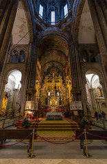 Golden altar of the cathedral of Santiago de Compostela