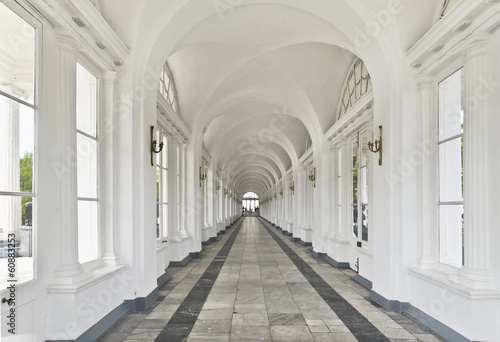 Interior of Cameron Gallery in Tsarskoe Selo near St. Petersburg