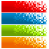 Set of Colorful Pixel Banners