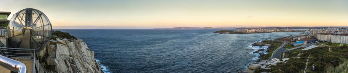 Orzan Cove in A Coruna, Galicia, Spain.